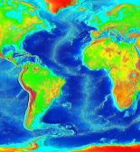"""""""Atlantic bathymetry"""" by National Ocenic and Atmospheric Administration (NOAA)."""