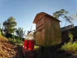 Flow Hive was invented by  the Anderson family of Byron Bay, Australia, to remove honey directly from hive to jars.