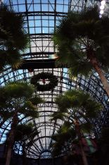 Battery Park Atrium view of the World Trade Center Tower 1 by Peter Dutton from Forest Hills, Queens, USA, 26 December 1988.